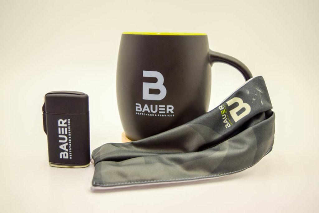 Masque, Briquet et Mug Bauer