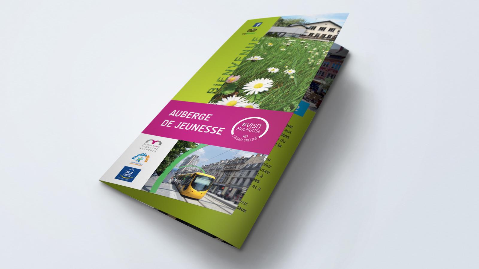 Plaquette publicitaire de l'Auberge de Jeunesse de Mulhouse