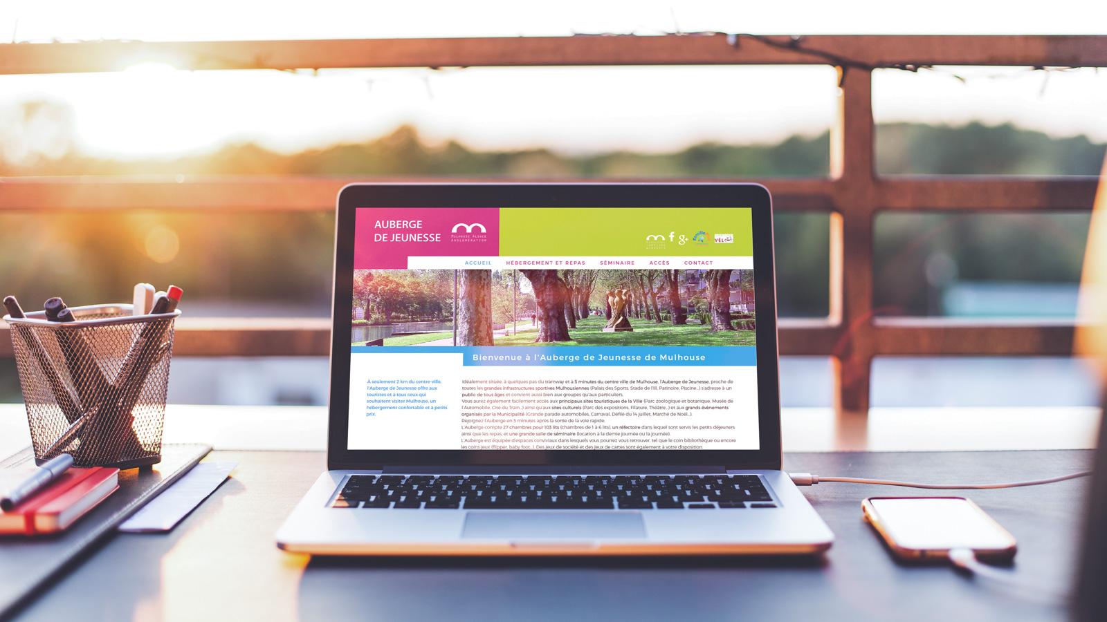 Site web Auberge de Jeunesse de Mulhouse