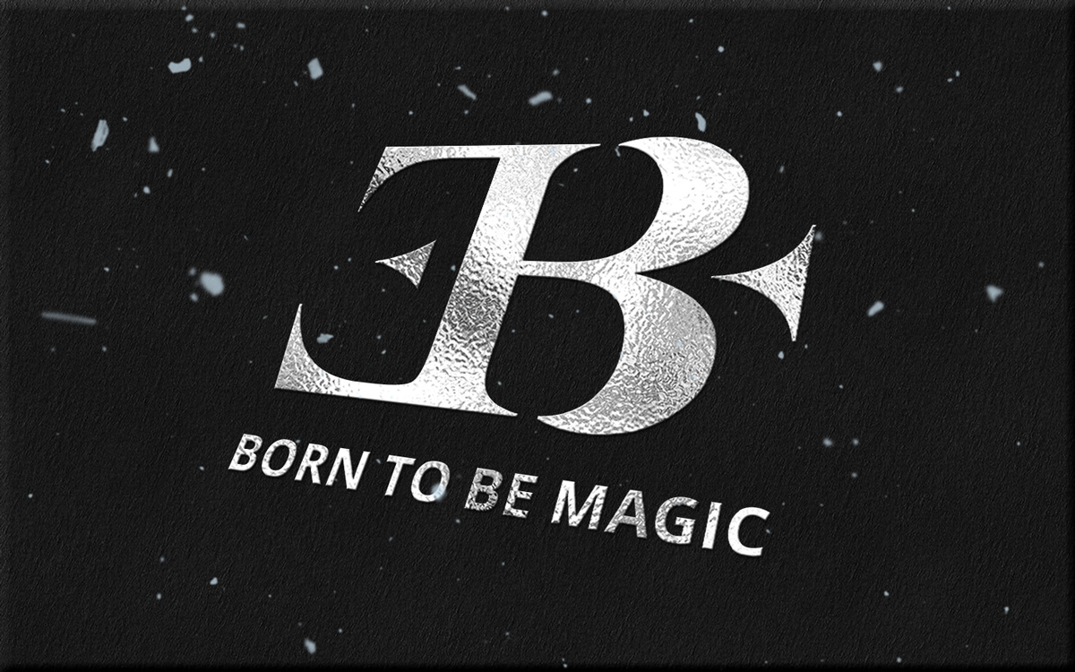 "Logo Eric Borner Magicien ""Born to be Magic"""