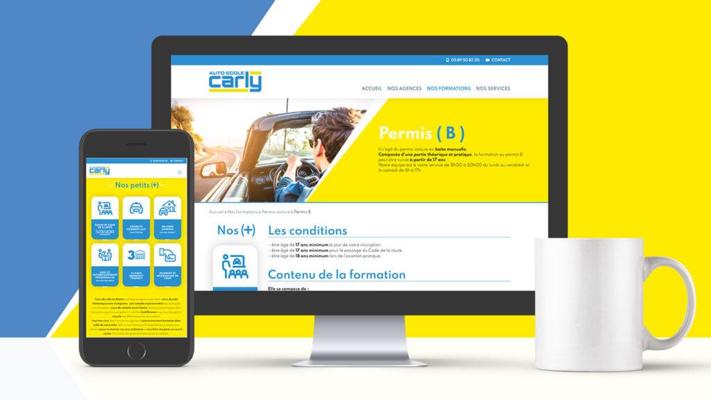 Site Internet des Auto-Écoles Carly