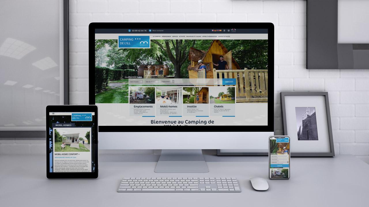 Site web Camping de l'ill